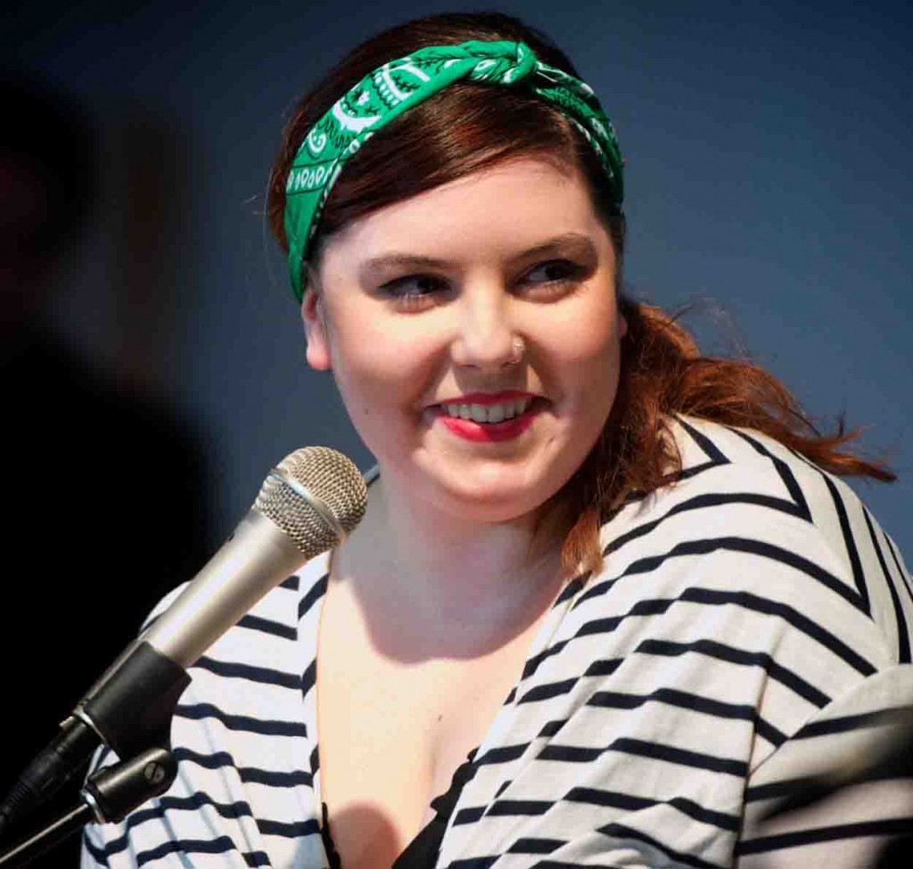 Mary Lambert performing at Seattle Living Room / Melodic Caring Project Show (Photo by Mocha Charlie)