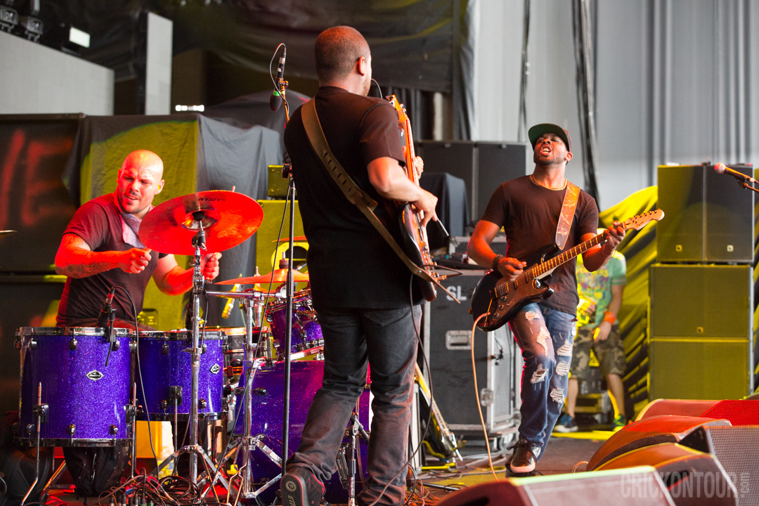 Ayron Jones and the Way rocking out at KISW's Pain in the Grass. (Photo: Alex Crick)