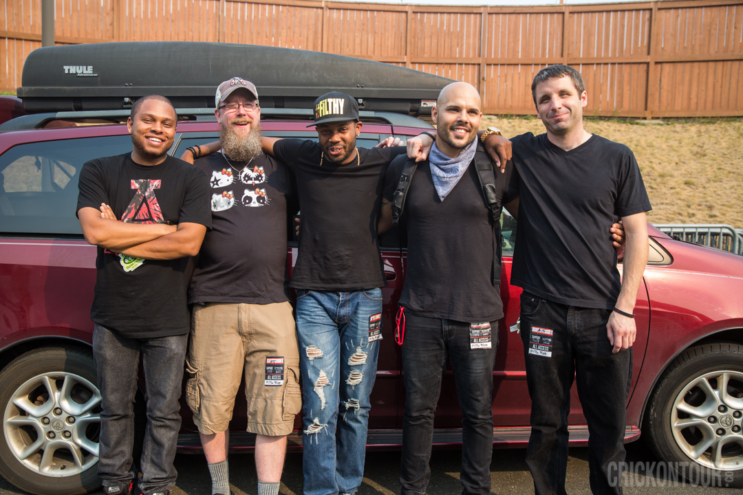 Ayron Jones and the Way crew after their performance at KISW's Pain in the Grass. (Photo: Alex Crick)