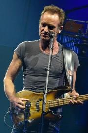 Peter Gabriel and Sting at KeyArena (Photo by Matthew Lamb)