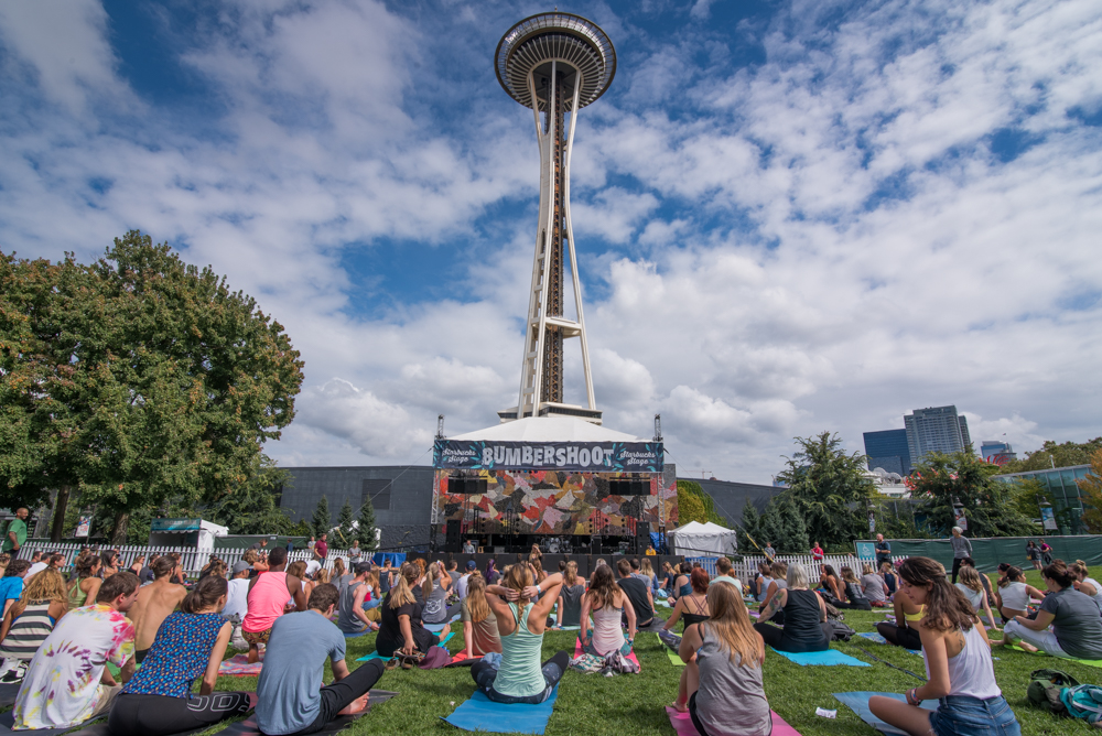 Yogashoot at Bumbershoot (Photo by Christine Mitchell)