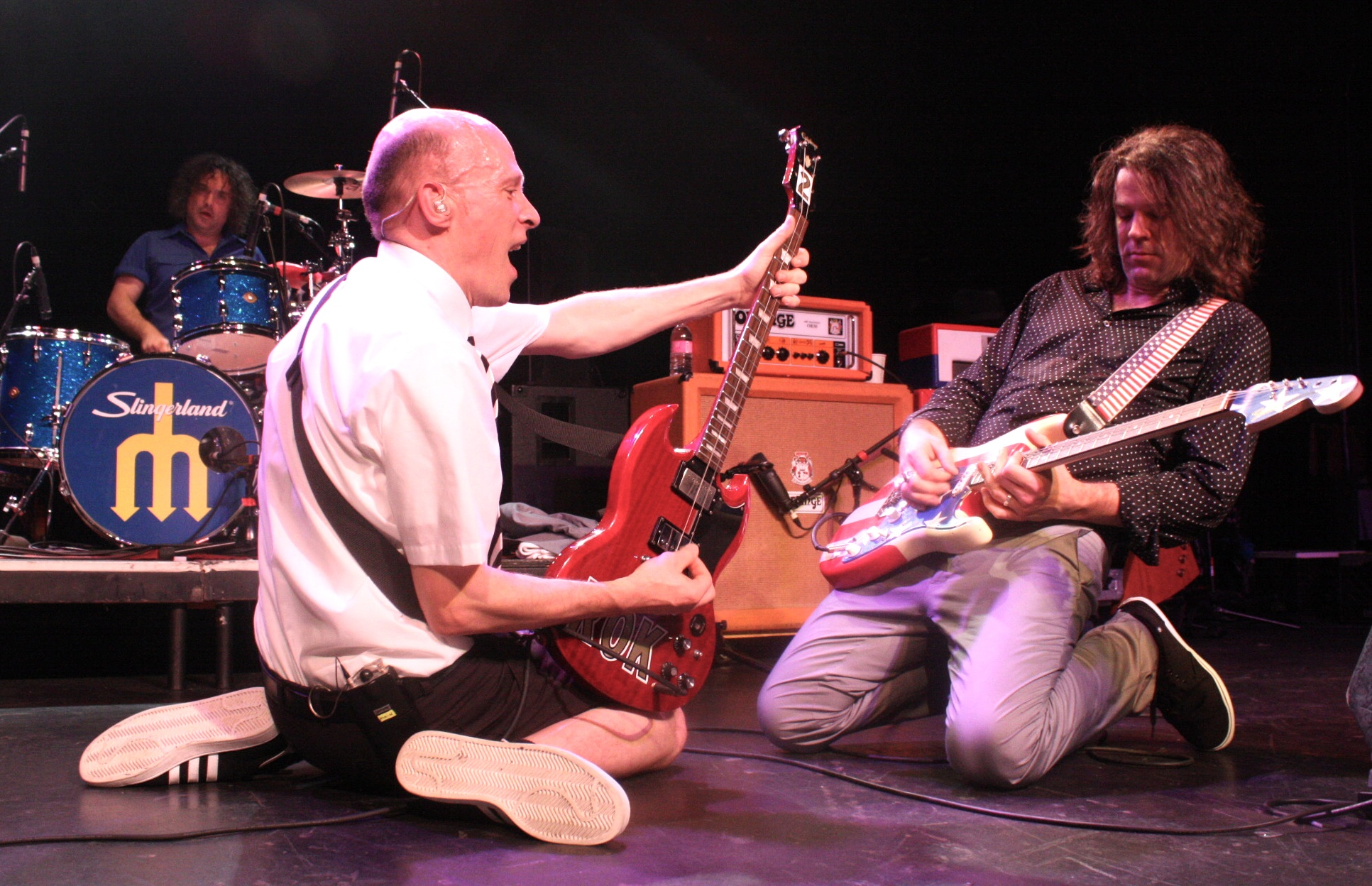 Chris Belew and Andrew McKeag lay it down at The Showbox - Photo: Alina Shanin