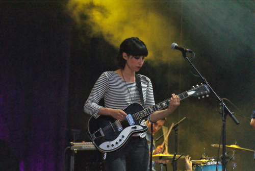 Deep Sea Diver's Jessica Dobson performing with The Shins at Sasquatch! 2012 (Photo: Greg Roth)
