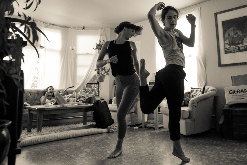 Dancers practicing for the show. (Photo by Christine Mitchell)