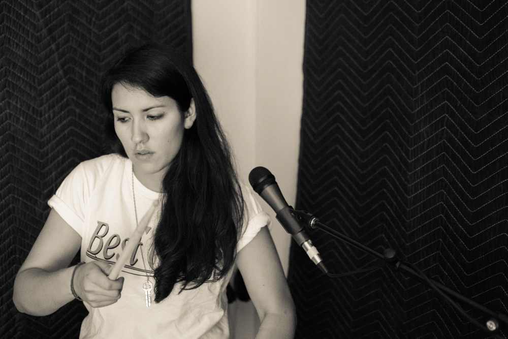 Lena in the practice space. (Photo by Christine Mitchell)