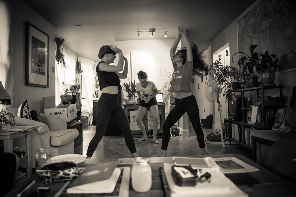 Molly practices with dancers. (Photo by Christine Mitchell)