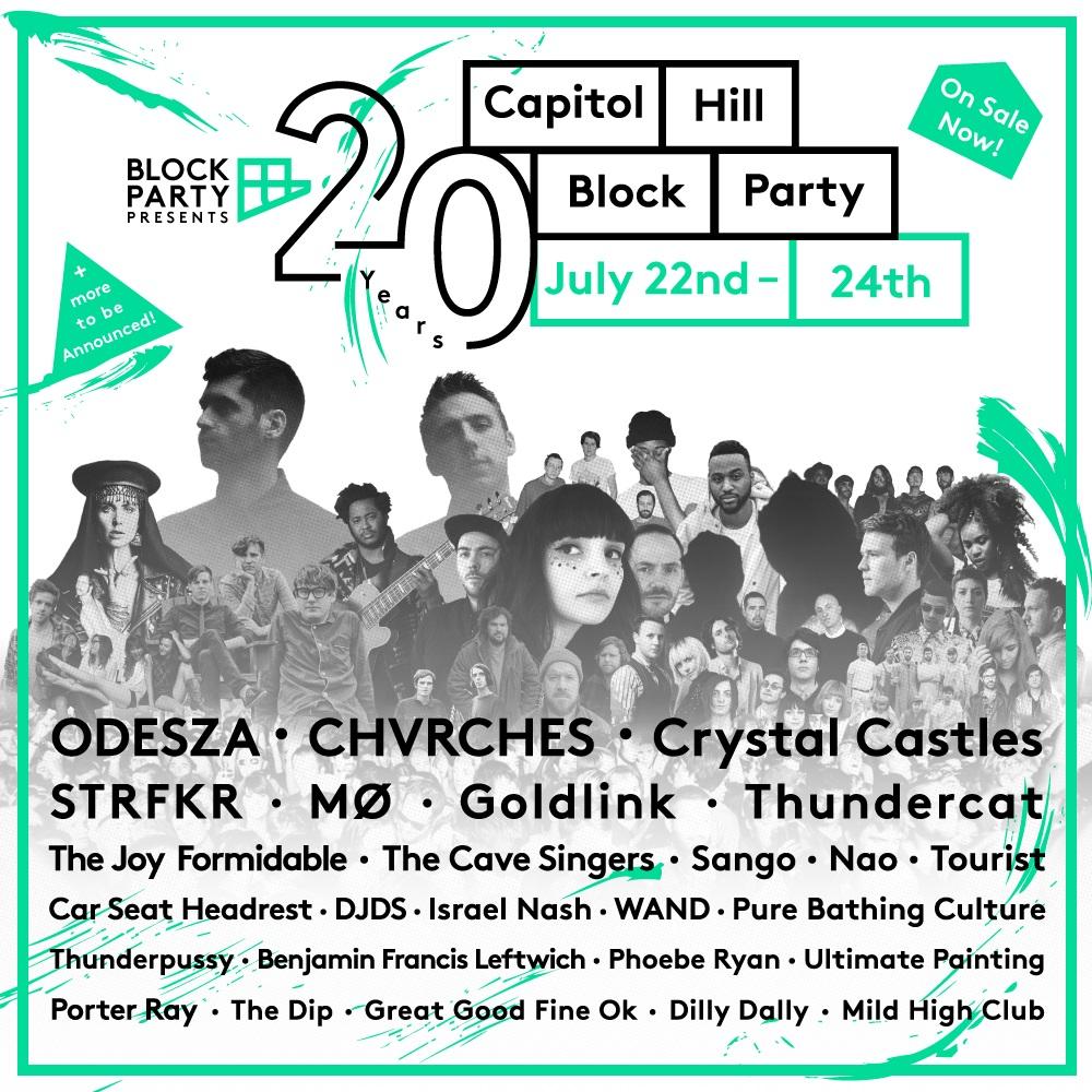 Capitol Hill Block Party 2016 Lineup